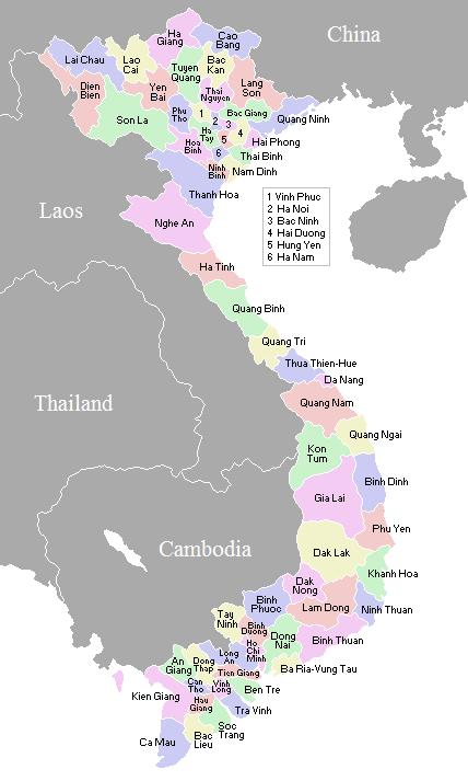 Vietnamese Provinces Map